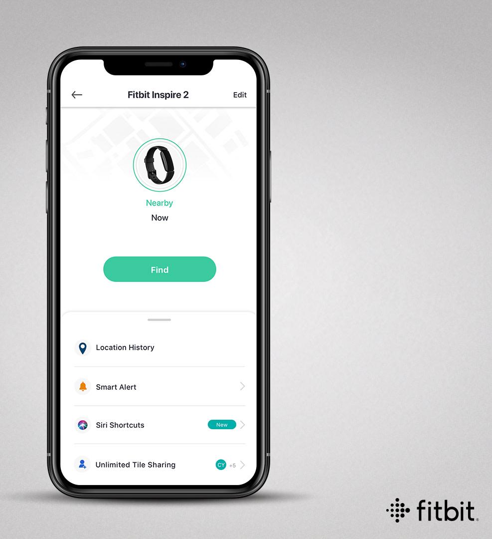Fitbit Inspire 2 Tile App iPhone