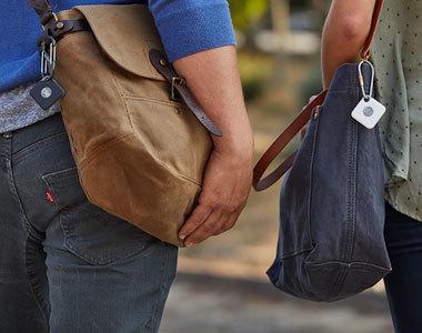 Tile Mate und Pro an Taschen