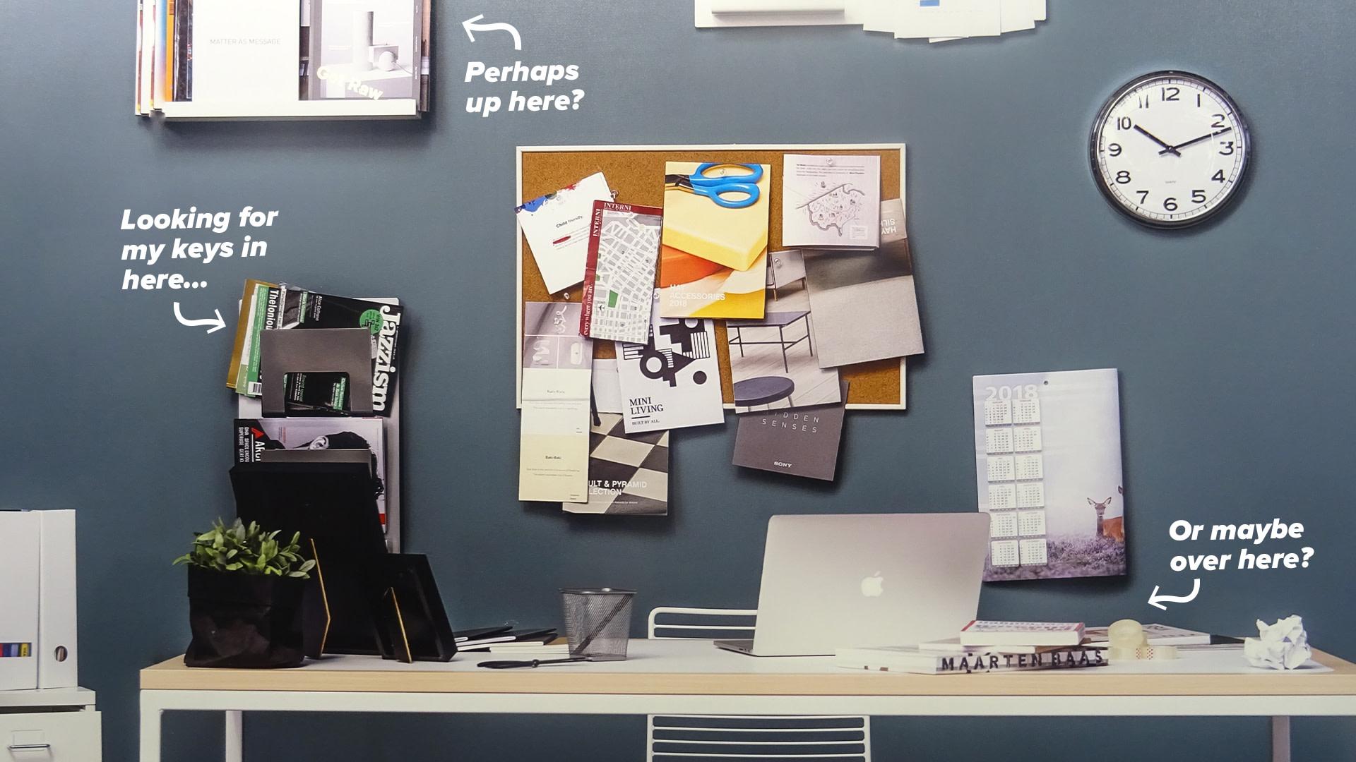 Zoom Backgrounds - WFH Desk