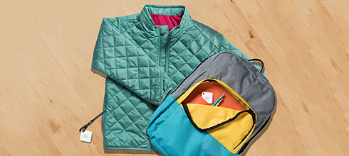 Tiled Jacket and Backpack 490x220