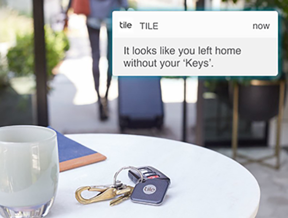 Tile Premium smart alert left without keys