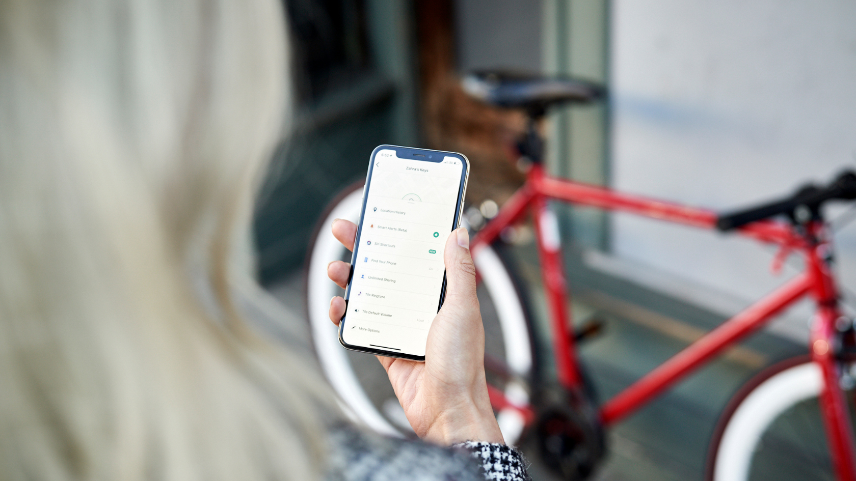 Tile bike tracker finds your lost bike with it's app
