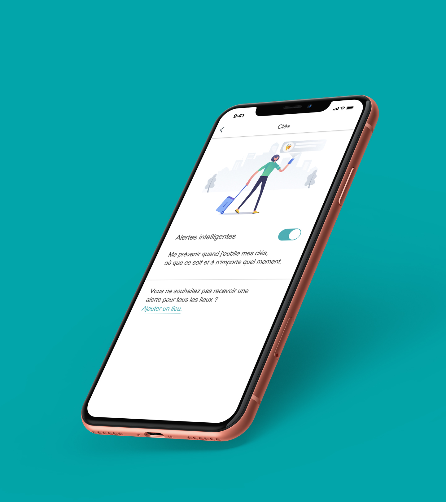 New Smart Alert French-Teal
