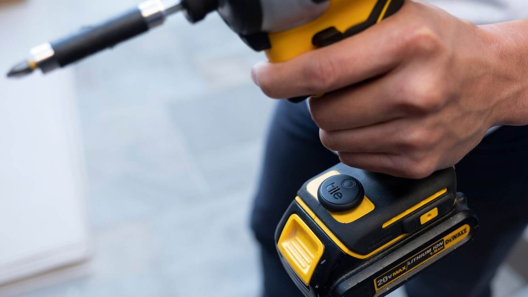 Tile Sticker is a great tool tracker to help you find your lost or stolen power drill.